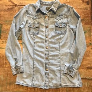 Anthropologie | Denim Button Down, Size XS